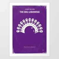 No010 My Big Lebowski minimal movie poster Art Print