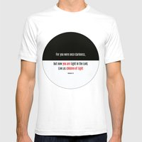 Children of Light Mens Fitted Tee White SMALL