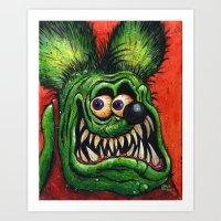 Rat Fink! Art Print
