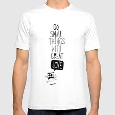 do small things with great love Mens Fitted Tee White SMALL