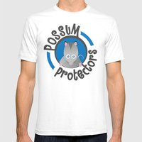 Possum Protectors Mens Fitted Tee White SMALL
