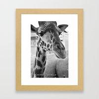 Long neck Framed Art Print