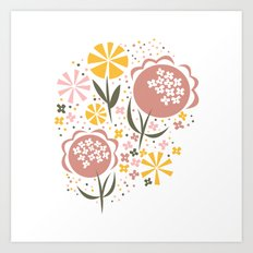Heather Bouquet Art Print