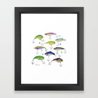 Fishing is Fly No3 Framed Art Print
