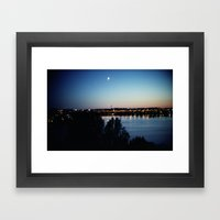 Stockholm Midnight Sun Framed Art Print