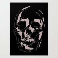 skull shadow Art Print