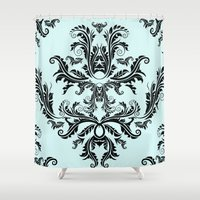 Damask Pattern Shower Curtain