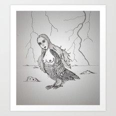 My-thology, the Harpy Art Print
