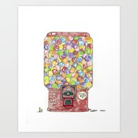 Gumballs Art Print
