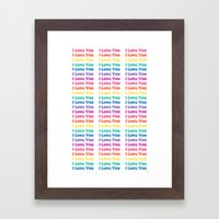 Pixeled  Love Framed Art Print