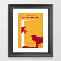 No452 My Kiss Kiss Bang Bang minimal movie poster Framed Art Print