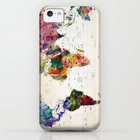 iPhone 5c Cases featuring map by mark ashkenazi