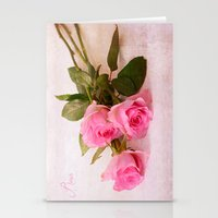 roses Stationery Cards featuring Roses by Fine Art by Rina
