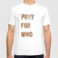 Kitesurfers Pray For Win… Mens Fitted Tee White SMALL