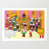 Circus XL Art Print