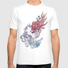 Spirit Animal - Wolf Mens Fitted Tee White SMALL