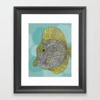 Hello Yellow Framed Art Print