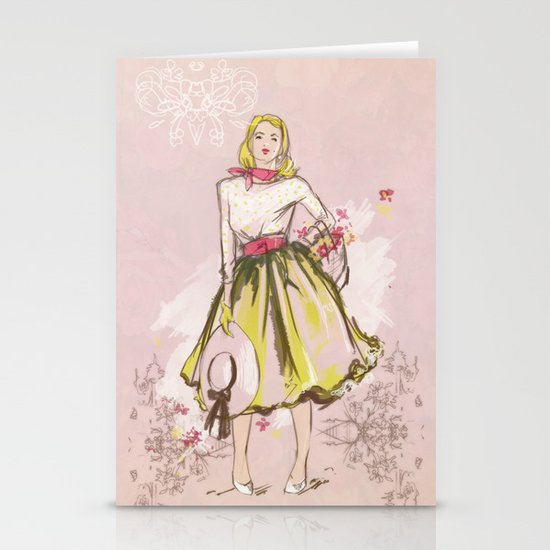 50s Stationery Card
