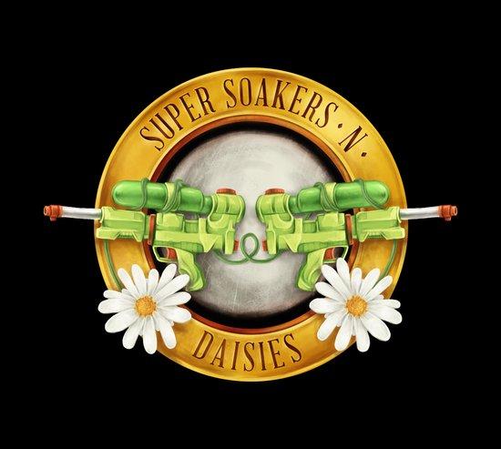 Super Soakers n Daisies Art Print