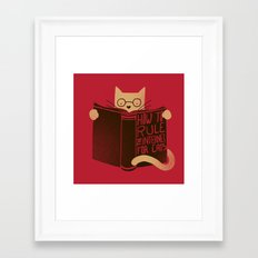 How to Rule the Internet (for cats) Framed Art Print