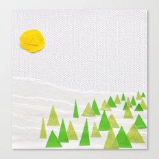 Evergreen Trees Canvas Print