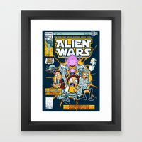Alien Wars Framed Art Print