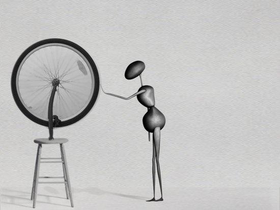 AntWoman & Duchamp's wheal Art Print