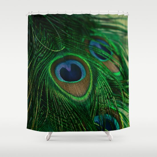 peacock shower curtain by olivia joy stclaire society6