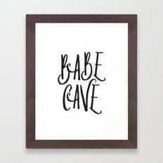 Babe Cave Framed Art Print