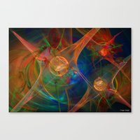 Neuron Network Canvas Print