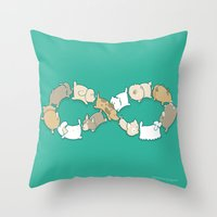 Moebius Sniff Throw Pillow