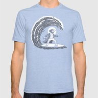 Surf's Up Mens Fitted Tee Tri-Blue SMALL