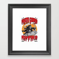 Death Comes Ripping Framed Art Print