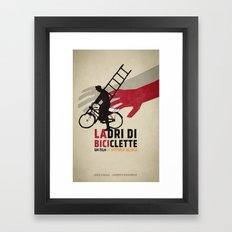 Ladri di biciclette Framed Art Print