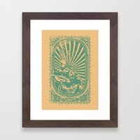 Frog king Framed Art Print