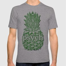 Psych Pineapple! Mens Fitted Tee Athletic Grey SMALL
