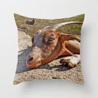 Mr. Goat Throw Pillow