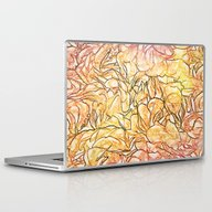 Orange Painterly Floral … Laptop & iPad Skin