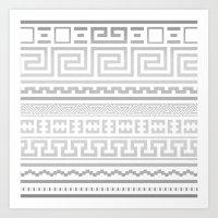 Greek | White Art Print