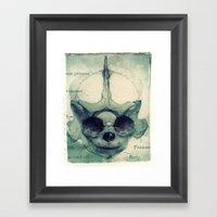 X Ray Terrestrial No. 5 Framed Art Print