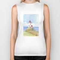 Peaceful Lighthouse Biker Tank