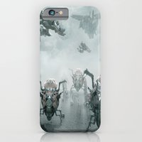 iPhone Cases featuring Spider Bots by Michael Lenehan