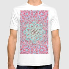 Mehndi Ethnic Style G402 SMALL Mens Fitted Tee White