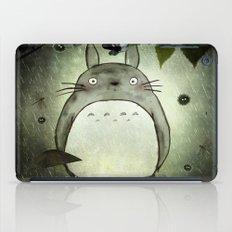 Totoro in the rain iPad Case
