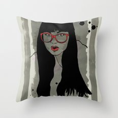 Never met a Hipster that really needs glasses Throw Pillow