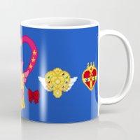 Pixel Moon Brooches Mug
