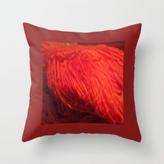 Yarn on Fire Throw Pillow