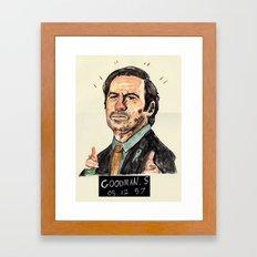 saulgoodmanmugshot Framed Art Print