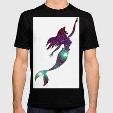 The Little Mermaid Cosmic SMALL Mens Fitted Tee Black
