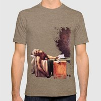 The Death Of Marrat Mens Fitted Tee Tri-Coffee SMALL